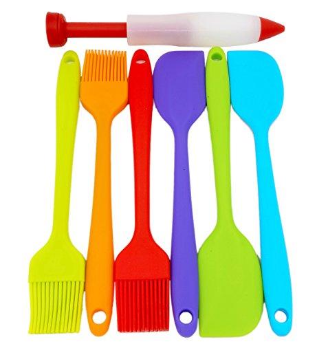 3 Pieces FDA Silicone Baking Spatulas Color Random - 2