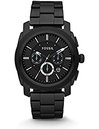 Men's Machine Quartz Stainless Steel Chronograph Watch, Color: Black (Model: FS4552)