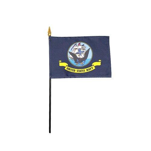 Emblems-Gifts Madeira Polyester Table Desk Flag 6 X 4 Gold Base