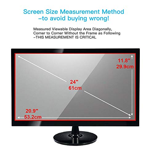 24 Inch Computer Screen Protector Blue Light Filter Eye