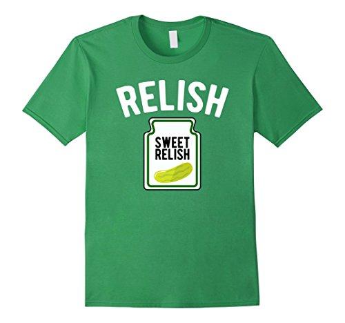Men's Sweet Relish Funny Condiment Halloween Costume T-Shirt XL (Original Couples Halloween Costume Ideas)
