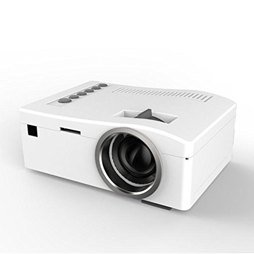 Cheapest Price! Home Mini Projector,Hosamtel UC18 LCD Mini Portable 1080P HD 48LUX LED Home MulitMed...