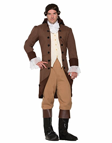 Forum Men's Colonial Gentleman Patriotic Costume, Brown, STD (Colonial Costumes For Men)