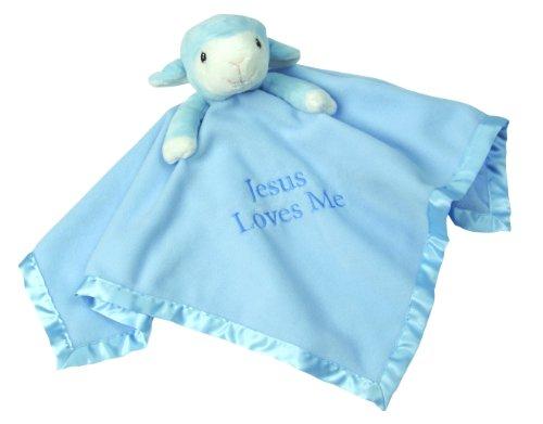 Precious Moments,  Blue Lamb, Stuffed Animal and Blanket, 102502 ()