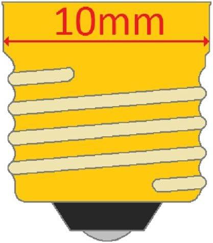 G-3.5 shape 0.84 W E10 Base 24 V Box of 10 CEC Industries #1448 Bulbs