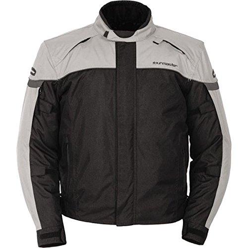 Series Textile Jacket (Tour Master Jett Series 3 Men's Textile Street Racing Motorcycle Jacket - Silver / Medium)