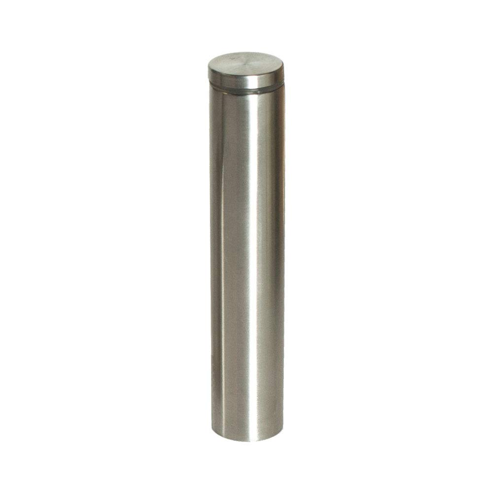 Stainless Steel Standoff 1 Inch Diameter x 6 Inch Barrel Length Brushed Finish for PVC Glass and Acrylic Sign Stand Off Wall Anchors and Screws 20 Piece Store//Restaurant Pack