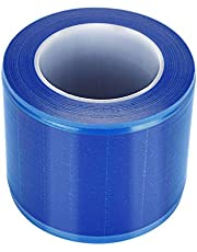 KLIZZA Calayu Disposable Tattoo Protective Film, 1200 Sheets/Roll Thick PE Film Barrier Tape Skin Protection Pad for Tattooed Skin - blue