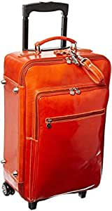 Floto Luggage Venezia Outside Zip Trolley Wheeled Duffle, Orange, Large