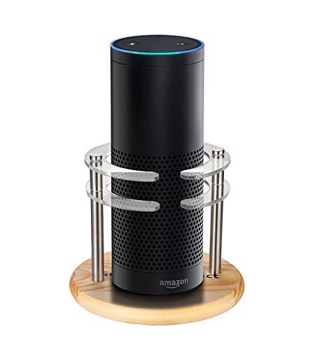 greenpointselect-wood-acrylic-speaker-stand-for-amazon-echo-protect-alexa-pine-wood