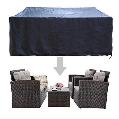 HAPLIFE Patio Furniture Set Covers Outdoor Conversation Set Covers Sectional Garden Sofa Covers Chair Loveseat Covers Waterproof UV-Resistant Dust Protective