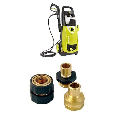 Sun Joe SPX3000 2030 PSI 1.76 GPM Electric Pressure Washer, 14.5-Amp and Garden Hose Quick-Connect Bundle