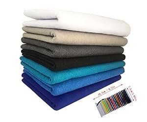 levylisa 7pcs ( 45 x 45 cm)1.4mm Thick Assorted Soft Felt Fabric ,Pure Felt Bundle, Blend Felt Squares,Craft Felt Nonwoven Sheet,Multi-Color Non Woven Felt Fabric Felt Assortment Pack ,Felt Toys (D)