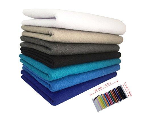 (levylisa 7pcs (45 x 45 cm)1.4mm Thick Assorted Soft Felt Fabric,Pure Felt Bundle, Blend Felt Squares,Craft Felt Nonwoven Sheet,Multi-Color Non Woven Felt Fabric Felt Assortment Pack,Felt Toys)