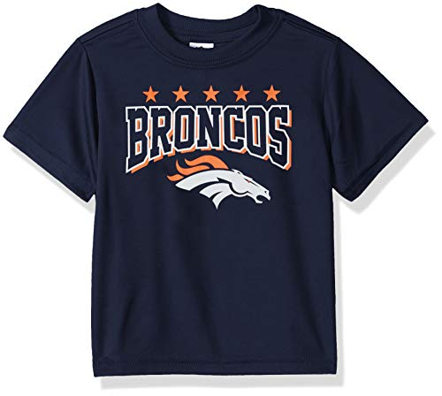 Gerber Childrenswear NFL Denver Broncos Boys 2018Short Sleeve Team Tee, Blue, 3T