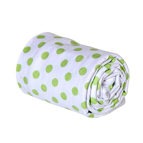 Sage Dots Bedding (Trend Lab Swaddle Blanket, Sage Dot)