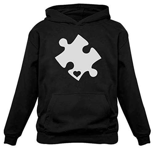 (TeeStars - Autism Awareness Heart Cut Puzzle Women Hoodie Small)