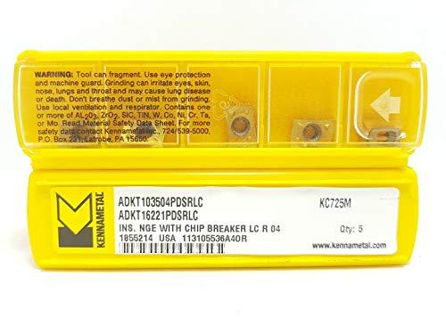 Kennametal ADKT 103504PDSRLC Hartmetall-Einsätze KC725M Frässpitzen #SK1, 5 Stück