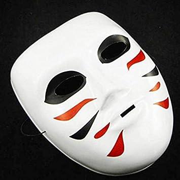 Queta Máscara de Cosplay Pintada Japonesa Kabuki Mascarada Disfraz ...