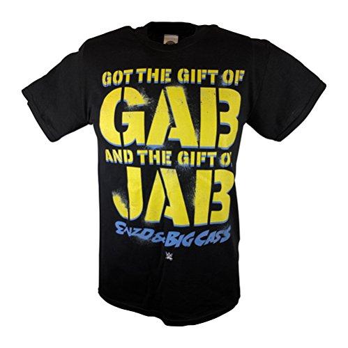 Enzo Amore Big Cass Gift of Gab Jab WWE Mens Blue T-shirt-5XL by WWE