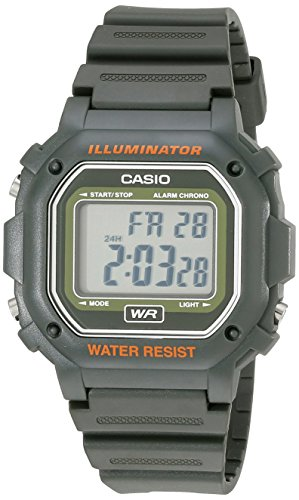 6f43719e7 Casio Kids F-108WH-3ACF Big Square Digital Display Quartz Army Green Watch