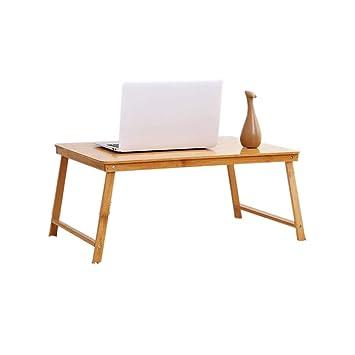 Mesa plegable XUERUI 100% Bambú Plegable Ordenador Portátil ...