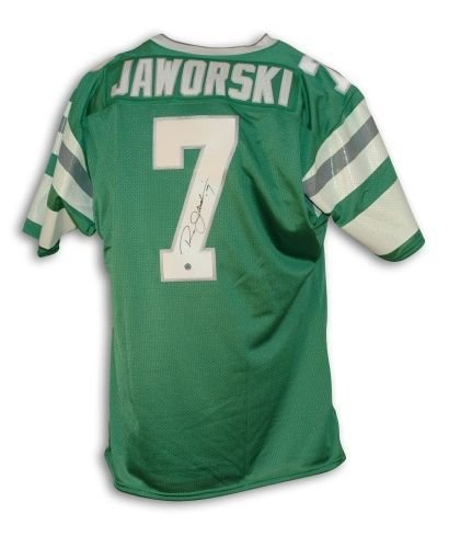 Philadelphia Eagles Autographed Throwback Jersey - Ron Jaworski Philadelphia Eagles Autographed Green Throwback Jersey - 100% Authentic Autograph - Genuine NFL Signature - Perfect Sports Gift