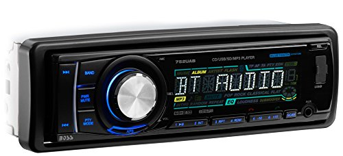 BOSS AUDIO 752UAB Single-DIN CD/MP3 Player Receiver, Bluetoo
