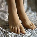 FidgetFidget A Pair Realistic Silicone Male Feet Shoes Displays Model Mannequin Size 43 h012