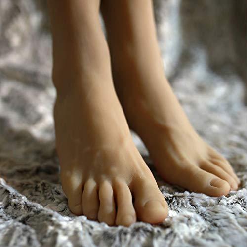 FidgetFidget A Pair Realistic Silicone Male Feet Shoes Displays Model Mannequin Size 43 h012 by FidgetFidget (Image #1)