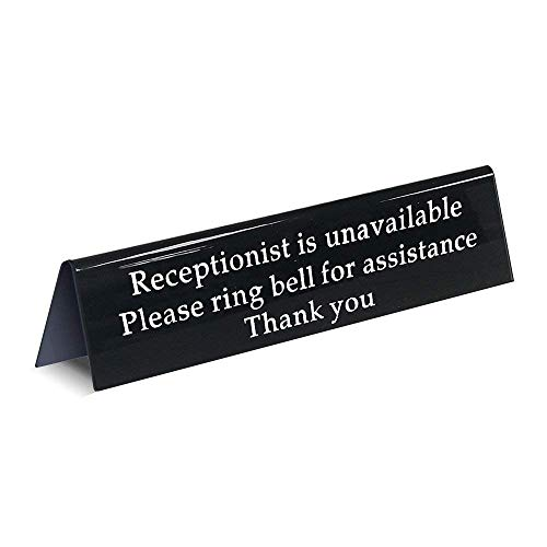 - Please Ring Bell Sign for Service Assistance Receptionist Front Desk Office Sign for When You are Away Unavailable from The Front (7.9