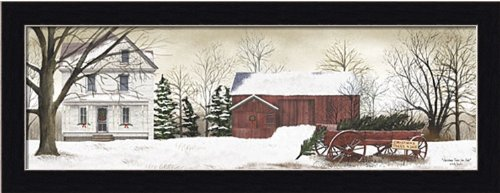 Christmas Trees for Sale by Billy Jacobs Country Primitive Snow Scene Framed Art Print Picture (Tree Christmas 7.5 Sale)