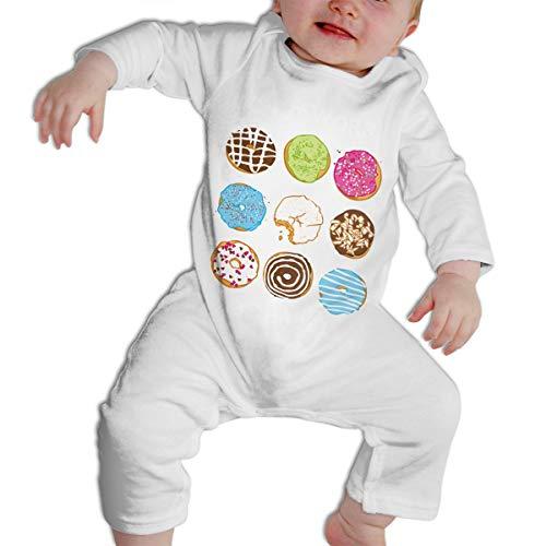 HFJFJSZ Toddler Bodysuit Sweet Doughnut Infant Onesie Jumpsuit