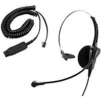 Avaya 1408, 1416, 2410, 2420, 4424D Headset - Economic Monaural Headset with Plantronics compatible QD