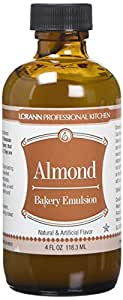 Bakery Emulsions Natural & Artificial Flavor 4oz, Almond