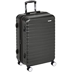 Travel Junkie 41b-SiFSn3L._SS247_ Amazon Basics Premium Hardside Spinner Luggage with Built-In TSA Lock - 28-Inch, Black