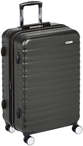 AmazonBasics Premium Hardside Spinner Luggage with Built-In TSA Lock - 28-Inch, Black