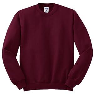 Jerzees Men's Pill Resistant Long Sleeve Crewneck Sweatshirt