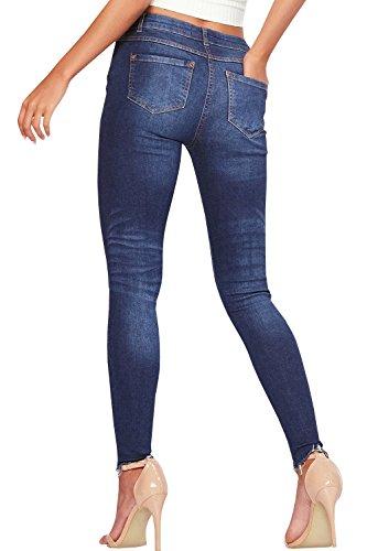 Ybenlover Jeans Jeans Ybenlover Ybenlover Donna Dunkelblau Dunkelblau Donna UOBPpp