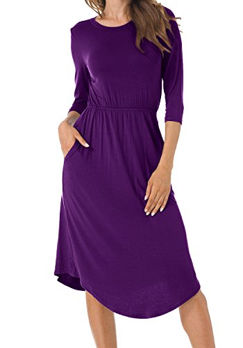Womens 3/4 Sleeve Dress - 9