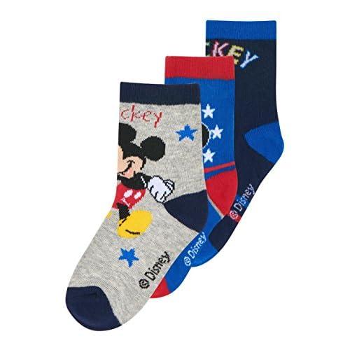 Disney Mickey Chicos Calcetines (lote de 3) - Azul