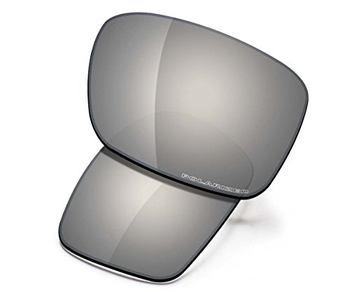 Saucer Premium Replacement Lenses for Oakley Holbrook OO9102 Sunglasses High Defense - Chrome Metal ()