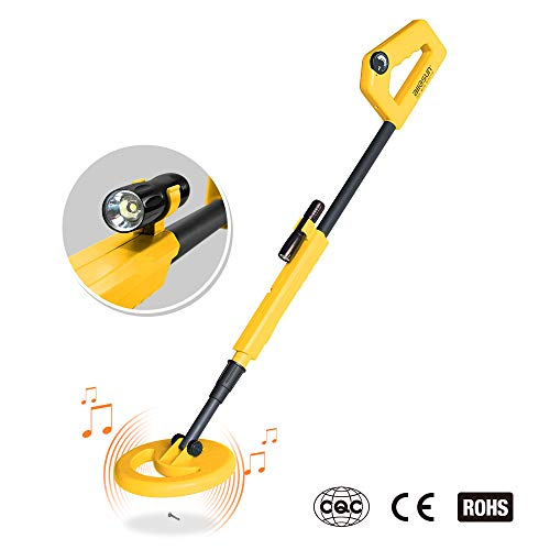 (allsun Handheld Metal Detector for Junior Kids Education Exploration Toy Color Yellow)