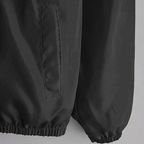 Tops Winter Patchwork Ladies Hoodie Fashion Coat Sweatshirt Pocket Clearance Sport DEELIN Sleeve Long Black Sale Zipper Autumn Hooded Thin Women Jacket nTXawOwq