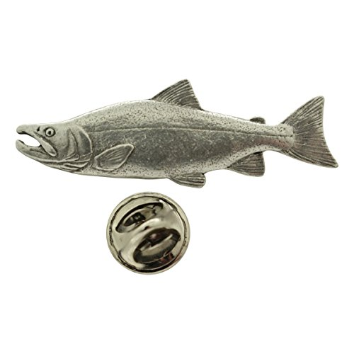 Sarah's Treats & Treasures Sockeye or Red Salmon Pin ~ Antiqued Pewter ~ Lapel Pin