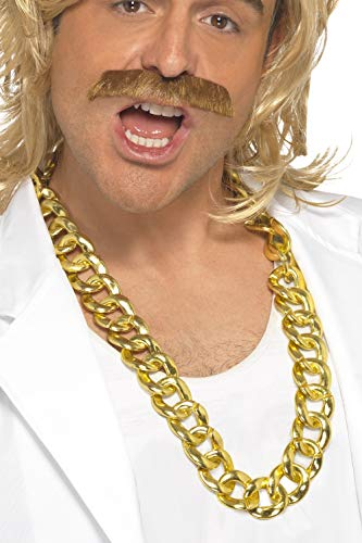 Smiffys Chunky Gold Necklace Costume Accessory,Gold,One ()