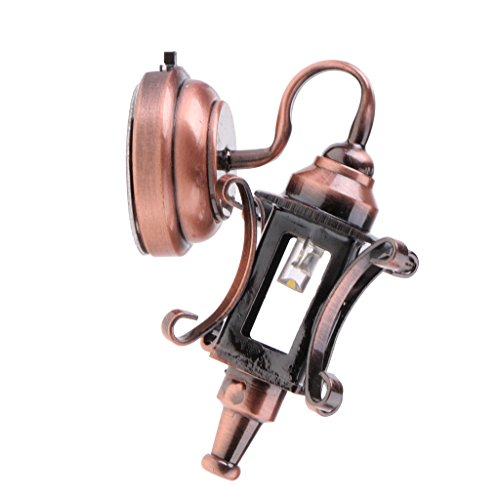 Dolity 1:12 Casa de Muñecas Miniatura Modelo de Iluminación Lámpara de Pared de Aleación