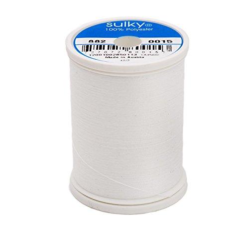 Sulky Bobbin Thread 60wt 1,100yd, White