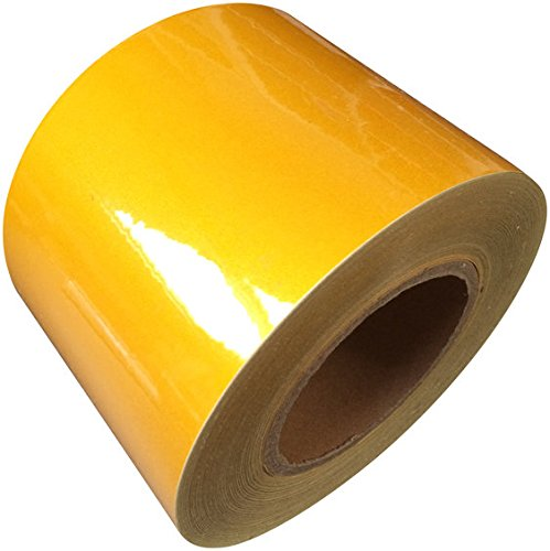 Reflective Tape Yellow 100mm X 5M - Weatherproof Strong Direct Products