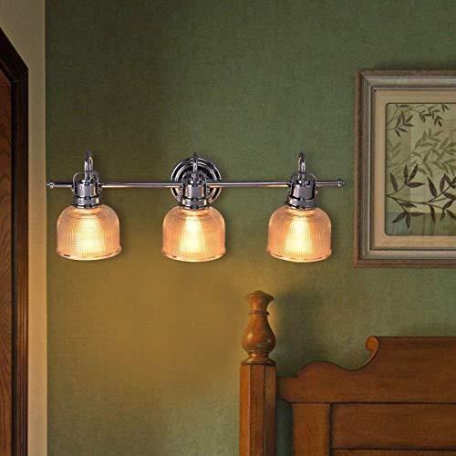 Tangkula Bathroom Vanity Wall Light Chrome Wall Sconce Bathroom Lighting Mounted Bath Vanity Fixture (3 Lights) ()